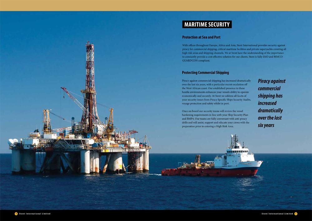 Stent International brochure spread