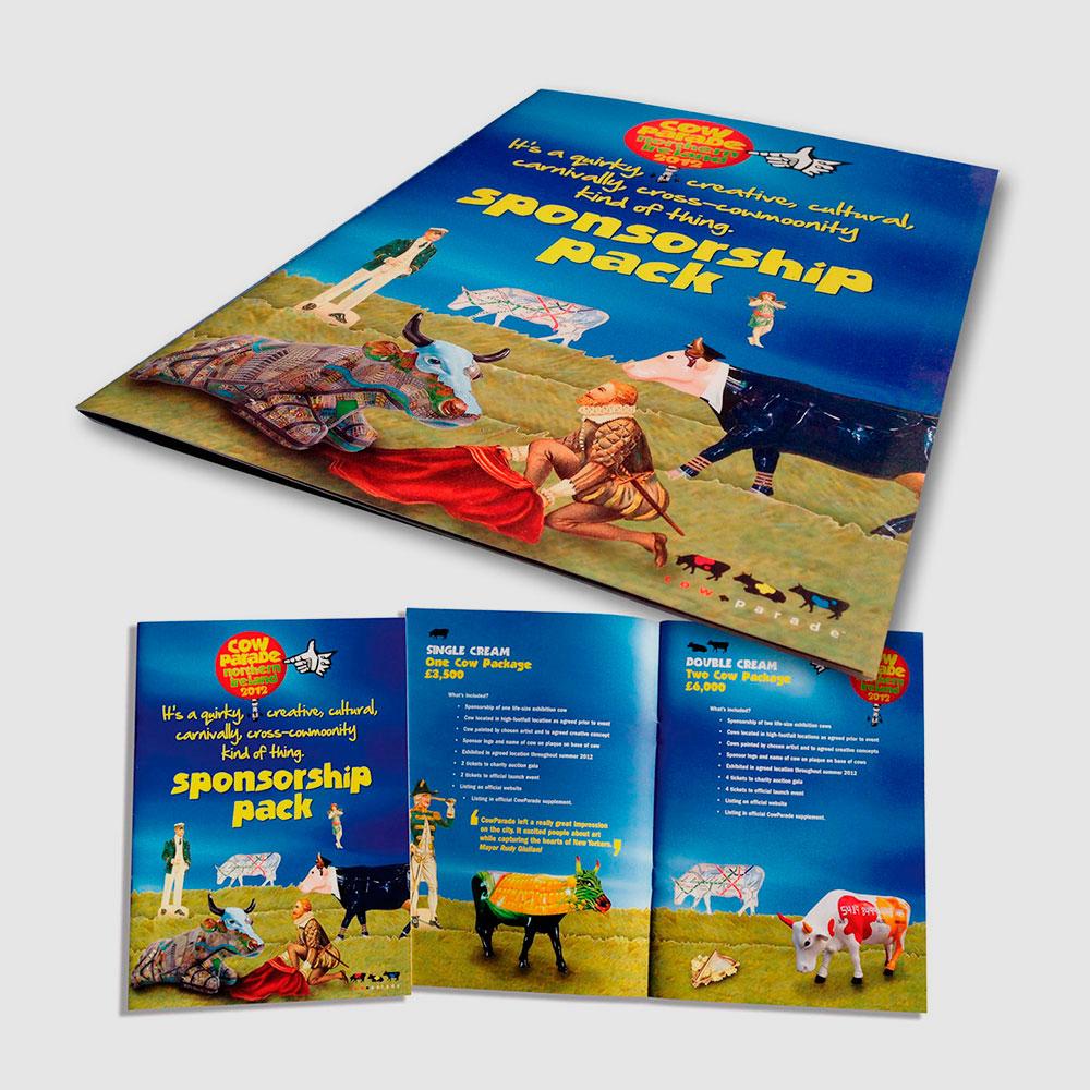 Cow Parade event brochures