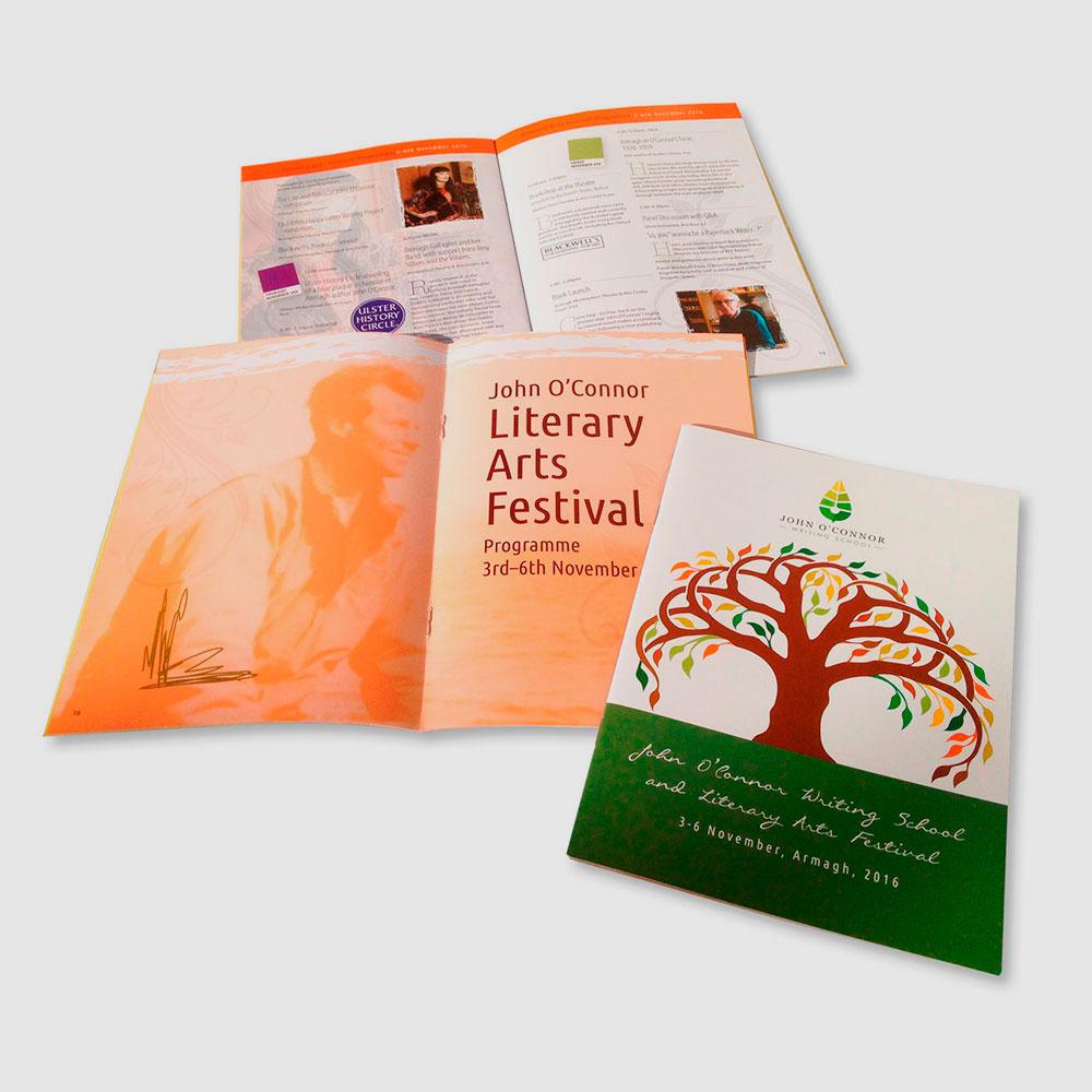 John O'Connor Literary Arts Festival brochure