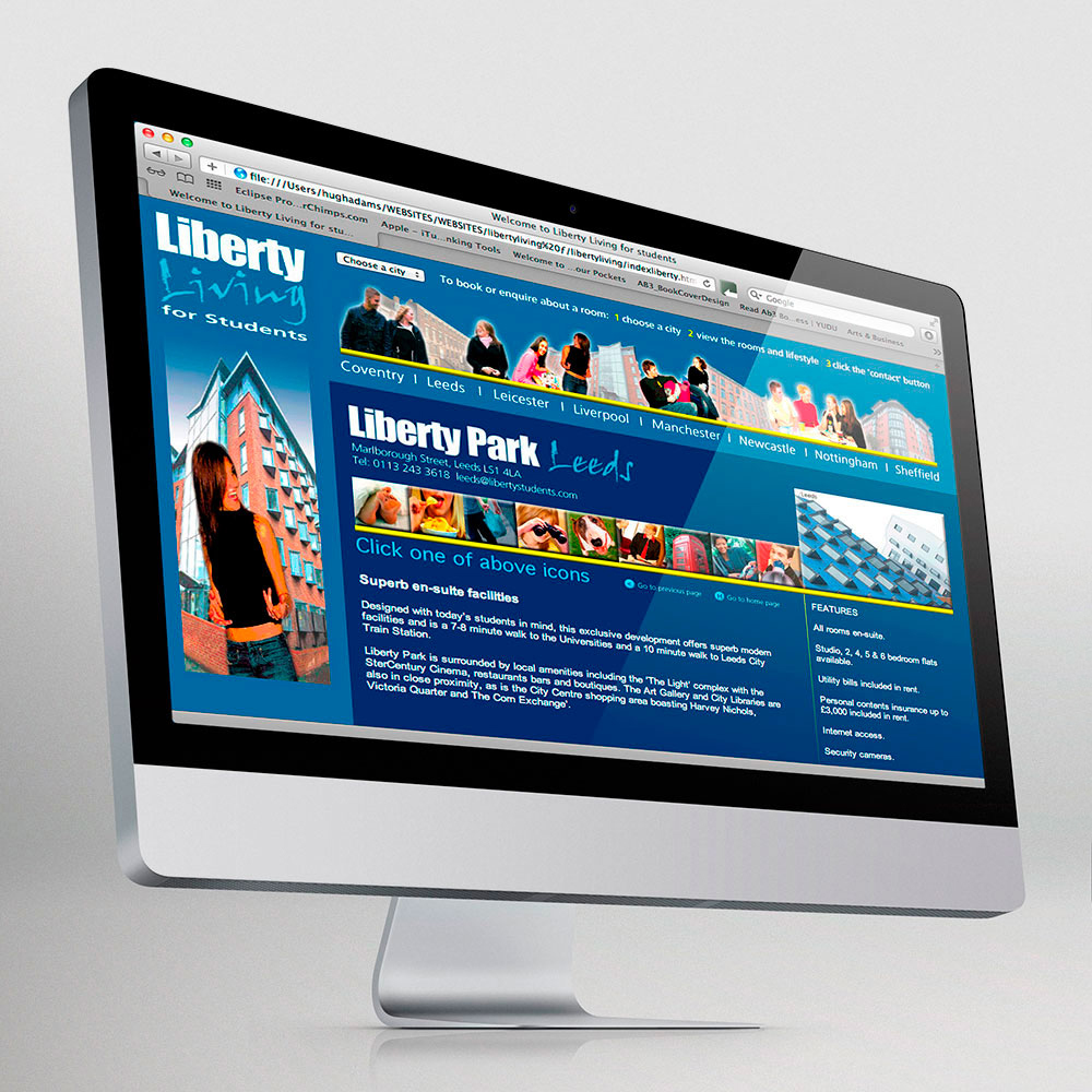 Liberty Living website