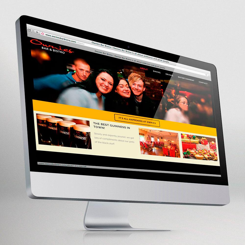 Ownies Bar Bistro website