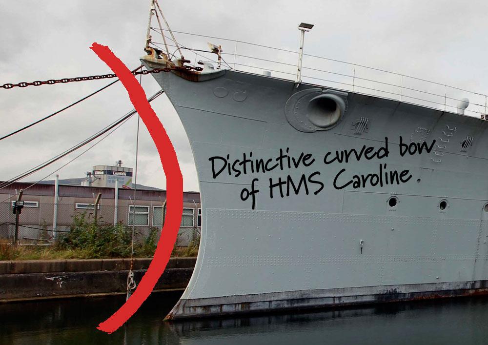 HMS Caroline brochure concept