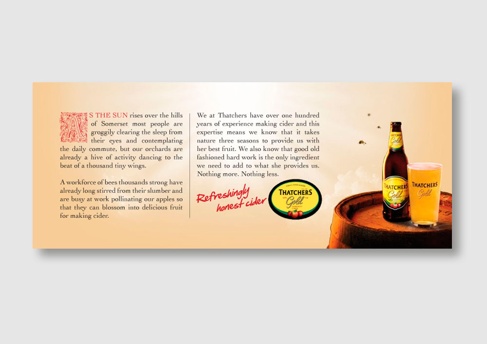 Thatcher's Cider press ad